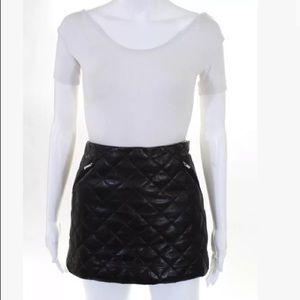 Diane Von Furstenberg Leather Quilted Mini Skirt 2
